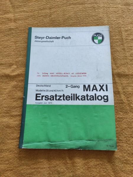 Puch Maxi 2 Gang - original Ersatzteilkatalog 25 und 40km/h Juni 1973 ! -- (31)