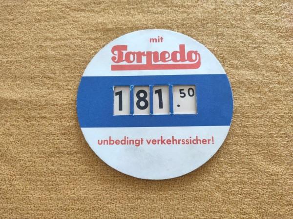 Torpedo Preisschild - unbedingt verkehrssicher Fahrrad Sammler ! -- (31)