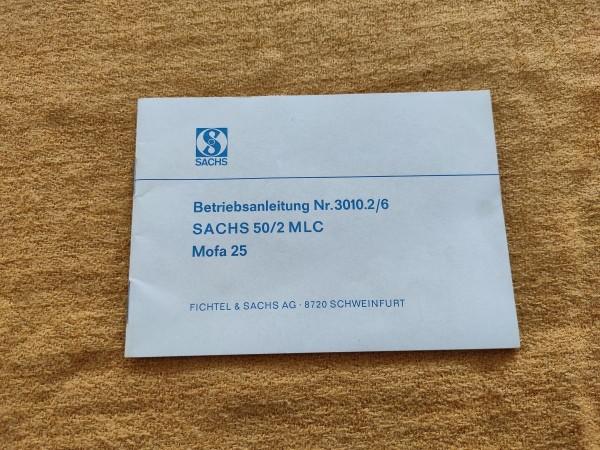 Sachs Motor 50/2 MLC - originale Betriebsanleitung Nr. 3010.2/6 Rarität ! (31)