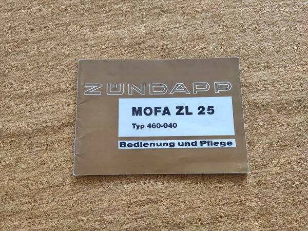 Zündapp ZL 25 - original Betriebsanleitung Bedienung und Pflege ! -- (31)