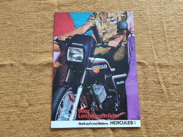 Hercules - original Prospekt : 80er Leichtkrafträder - Moped Sammler ! -- (31)