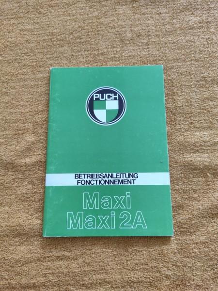 Puch Maxi Maxi 2A - original Betriebsanleitung Selten Rarität ! -- (31)