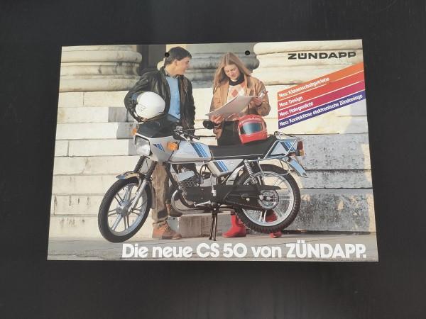 Zündapp CS50 - original Werbeblatt Prospekt Werbung Rarität Sammler ! -- (31)