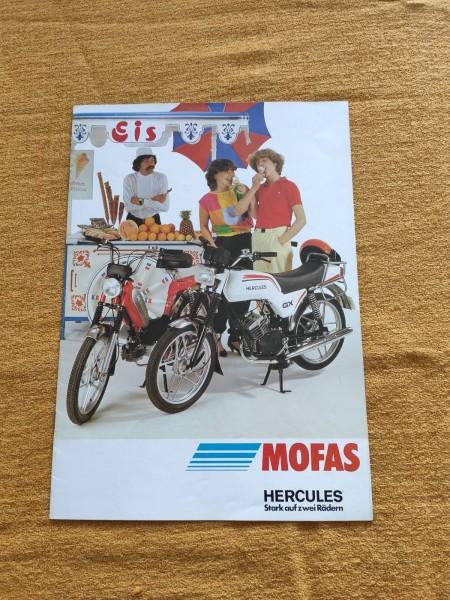 Hercules Mofas - original Prospekt - Prima GX Modellübersicht Rarität ! -- (31)
