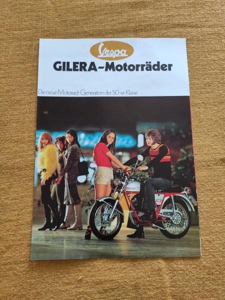 Vespa Gilera - original Motorräder Prospekt 50er Klasse Moped Selten ! -- (31)