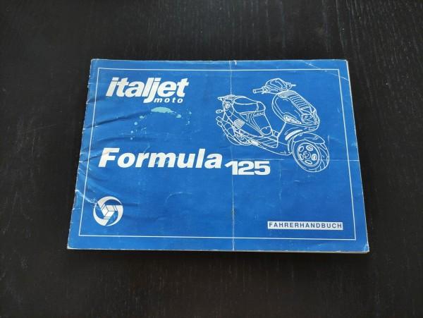Italjet Formula 125 - original Fahrerhandbuch Betriebsanleitung ! -- (36)
